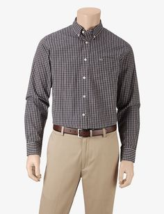 7c4903243f Dockers® Soft Woven Plaid Shirt – Men s