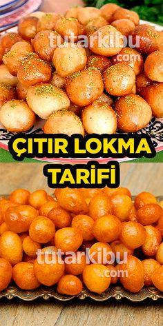 Lokma Tatlısı - is-sit tiegħi Delicious Cake Recipes, Yummy Cakes, Iftar, New Recipes, Donuts, Food And Drink, Pumpkin, Meals, Allah