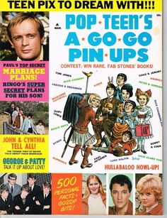 Pop Teen's A Go-Go Pin-Ups March 1966 FIRST ISSUE Vintage Teen Magazine