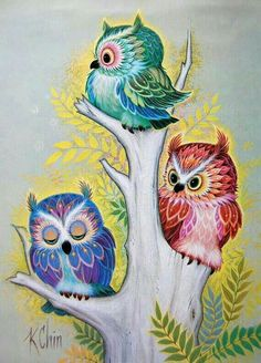 diamond embroidery animal three little owl on the tree diy diamond painting sets drill bead cross stitch square embroidery. Quilling, Tree Tattoo Arm, Willow Tree Tattoos, Owl Artwork, Owl Wallpaper, Owl Illustration, Owl Cartoon, Owl Pictures, Beautiful Owl