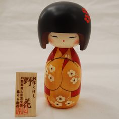 Japanese Kokeshi Doll Authentic Handmade in Japan - Nobana / Wild Flower | eBay