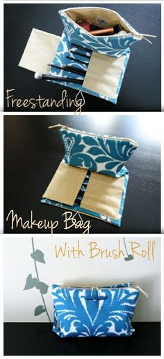 Our makeup bags with brush roll make it easy to keep your favorite makeup organized and ready to go! - by Klaim U