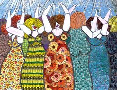 Master of patterns!  Girls night out by Leena Nio