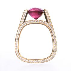 The Stuart Moore Collection women color rings 18Kt Rose Gold - designer jewelery - Stuart Moore