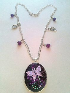 Pretty+purple+resin+butterfly+necklace+by+KaisCards+on+Etsy,+£6.50