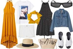 Flowy dresses, fun accessories and comfy shoes. Oh, and don't forget the trusty denim jacket! These are our top picks for staying stylish at summer's music festivals. Paloma Elsesser, Polyvore Dress, Shop Till You Drop, Fashion Capsule, List Style, Comfy Shoes, Parisian Style, Summer Looks, Classic Looks