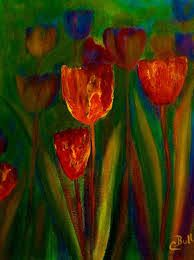 Resultado de imagen para images of silver and black abstract paintings of flowers
