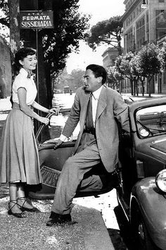 Roman Holiday, Audrey Hepburn and Gregory Peck