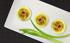 Cucumber with hot spaghetti Cucumber, Spaghetti, Tacos, Mexican, Hot, Ethnic Recipes, Noodle, Mexicans, Zucchini