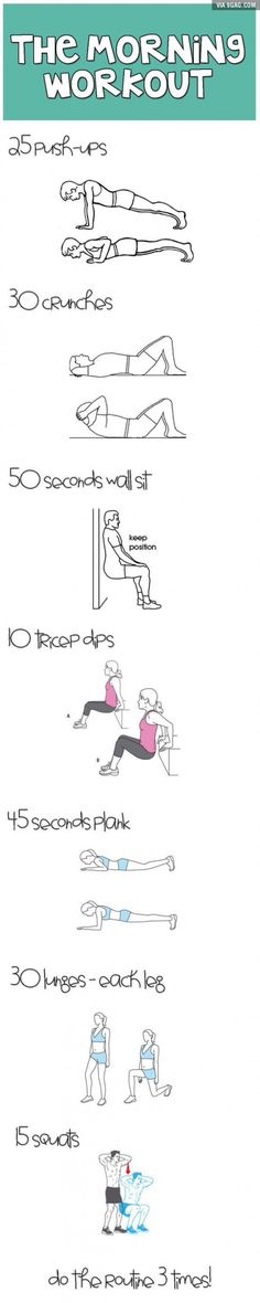The morning workout!