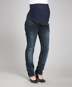 This Sandblast Over-Belly Maternity Straight-Leg Jeans - Women is perfect! #zulilyfinds  Perfect for my daughters!! aND ONLY $12.99!