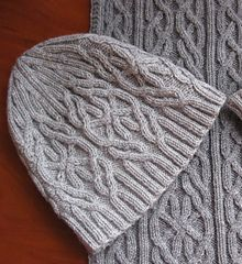 Frost | cabled knitting pattern set for matching hat and scarf by Irina Dmitrieva