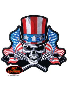 Uncle Sam Skull Patch 10 x 9