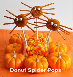 Kids Recipes: Easy Donut Spider Pops