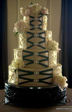 #Corset wedding cake