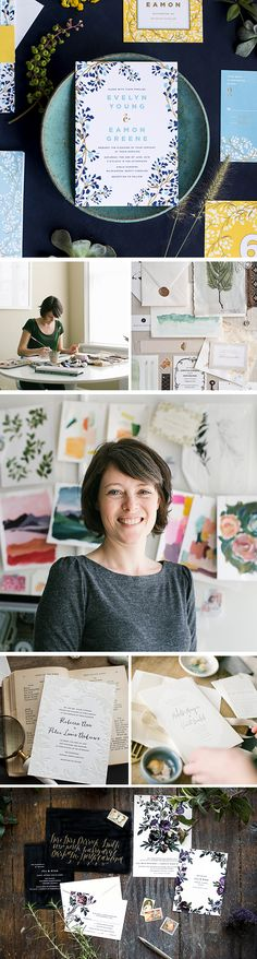 """""""I hope that my work has some element of timelessness without feeling stuffy or too classic. I want the bride to really love the invitation, but I want her mom to love it, too."""" Meet Ellie, the artist and designer behind modern-meets-traditional paper goods line Hello Tenfold."""