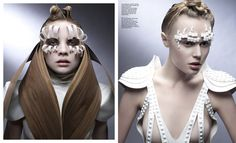Elements beauty editorial Issue No. 7 - make-up Linda Ohrstrom @ MAC Cosmetics