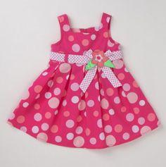 Infant Girls' Poplin Summer Polka Dot Sundress. What a pretty summer dress, I imagine you in it my sweet Vylette , so cute, so sad....miss you darling little girl...
