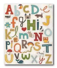 Love this Alphabet Soup Wrapped Canvas on #zulily! #zulilyfinds