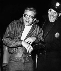 James Dean on the set of Rebel Without A Cause | Rare and beautiful celebrity photos