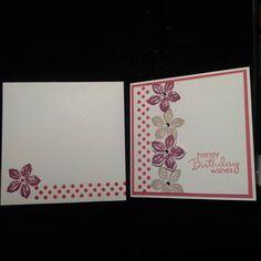Mini 3x3 Stampin Up Petite Petals Birthday Card