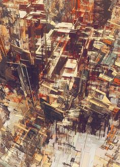 Cities IV - Deconstructed series by atelier olschinsky (Peter Olschinsky and Verena Weiss) Kandinsky, Architecture Drawings, Deconstruction, Urban Art, Painting & Drawing, Concept Art, Filter, Street Art, Photoshop