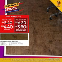 Other for sale, RM4 in Klang, Selangor, Malaysia. Buy Vinyl Flooring From Alaqsa Carpets At Low Price  Bring new life to your old hardwood, tile, lin