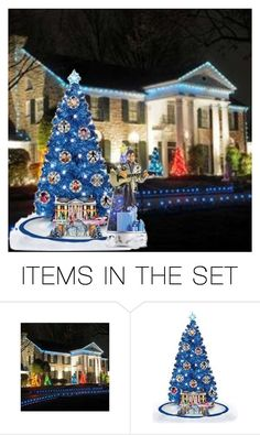 """""""I'll Have a Blue Christmas"""" by rboowybe ❤ liked on Polyvore featuring art"""