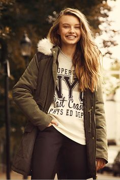 If there's one coat to see you through autumn, it's the classic, fur-trimmed parka. #newlook #fashion