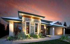 View our beautiful new homes at exceptional value at ABC Homes - Australian Building Company. View our house and land packages in Melbourne now! Bungalow House Design, Modern House Design, Facade Design, Exterior Design, Interior Design Gallery, New Home Builders, Mediterranean Homes, Dream House Plans, Facade House