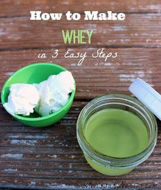 Whey is wildly popular as there are many uses and recipes utilizing this protein. Learn how to make whey in 3 easy steps. Could it really be so simple? Read on to find out for yourself! #whey #yogurt #fermenting Probiotic Foods, Fermented Foods, Raw Food Recipes, Cooking Recipes, Healthy Recipes, Healthy Food, Cooking 101, Fermentation Recipes, Do It Yourself Inspiration