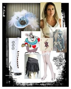"""White rabbit steampunk"" by reraelusk ❤ liked on Polyvore featuring Olympia Le-Tan, Avenida Home and Eleanor Stuart"