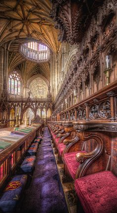 A Colourful Choir Boy's life. #HDR Photography by Art Hakker at Ely Cathedral.