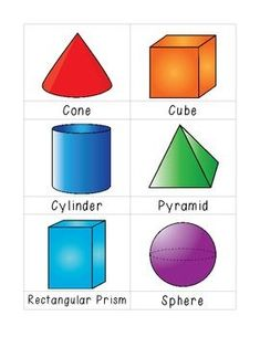 Shape Flashcards by Knowledge Nuggets 3d Shapes Activities, 3d Shapes Worksheets, Shapes Flashcards, Flashcards For Kids, Kids Math Worksheets, Math Activities, 3d Shapes For Kids, 2d And 3d Shapes, Solid Shapes