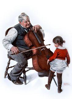 "Norman Rockwell ""Grandpa's little Ballerina"" (1923)"