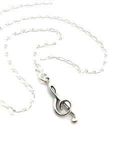 Treble Clef Necklace Music Jewelry Music Note by UrbanClink, $29.00