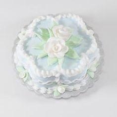 Blue Flower Cake   Stewart Dollhouse Creations