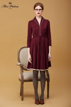 Hampton Dress (Plum) (6)
