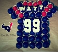Houston Texans JJ Watt Cake Ball Cake