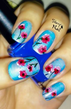 Impressionist Flowers Nail Art TUTORIAL #nail #nails #nailart #nailpolish #naildesign #nailtutorial #nailarttutorial #tutorial #art #flowers #impressionist