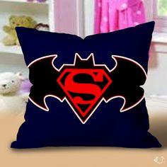 Batman vs Superman logo Pillow Cases