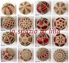 lo spazio di lilla: Palline di Natale crochet con schemi / Christmas baubles…