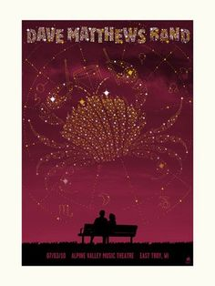 DMB @ Alpine Valley. Someday I'll have a hallway lined with Dave Matthews Band concert posters!