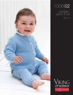 Baby Ull Cardigan, Pants & Hat – 1006-02