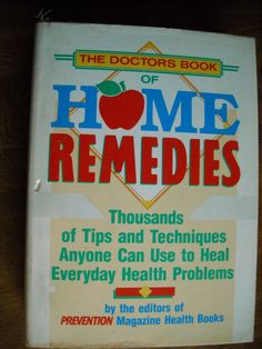 The Doctors Book of Home Remedies Prevention Magazine Health Books (1990) ~~ for sale at Wenzel Thrifty Nickel eCRATER store