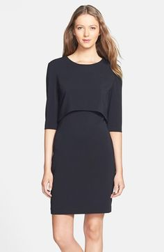 A simple dress like this one can take you from work to evening. Just add a statement necklace.