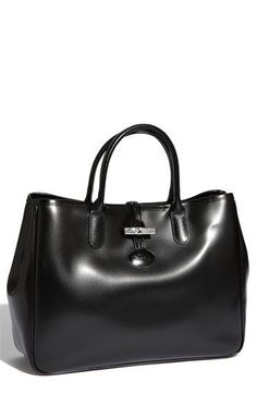 Longchamp 'Roseau' Tote ~ I love Longchamp!  This is so sleek looking!