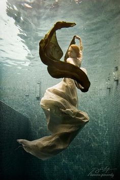 love the look of fabric in the water