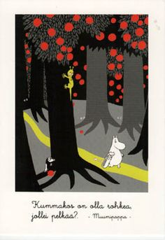 Tove Jansson - Swedish-Finn artist, writer, comic strip creator, and children's book author - The Book about Moomin, Mymble and Little My Totoro, Tove Jansson, Postcard Printing, Kawaii, Little My, Illustrations And Posters, Children's Book Illustration, Finland, The Book