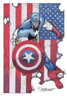 Captain America by Rafa Sandoval *